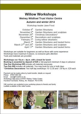 Welney WWT willow and garden and decoration workshops